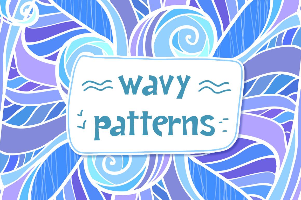 12 ornate wavy seamless patterns example image 1