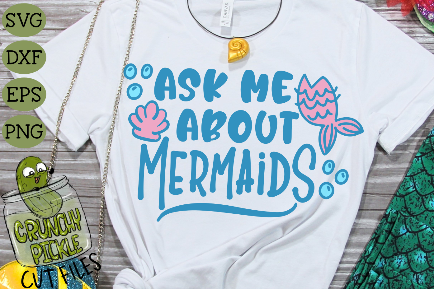 Ask Me About Mermaids SVG example image 1