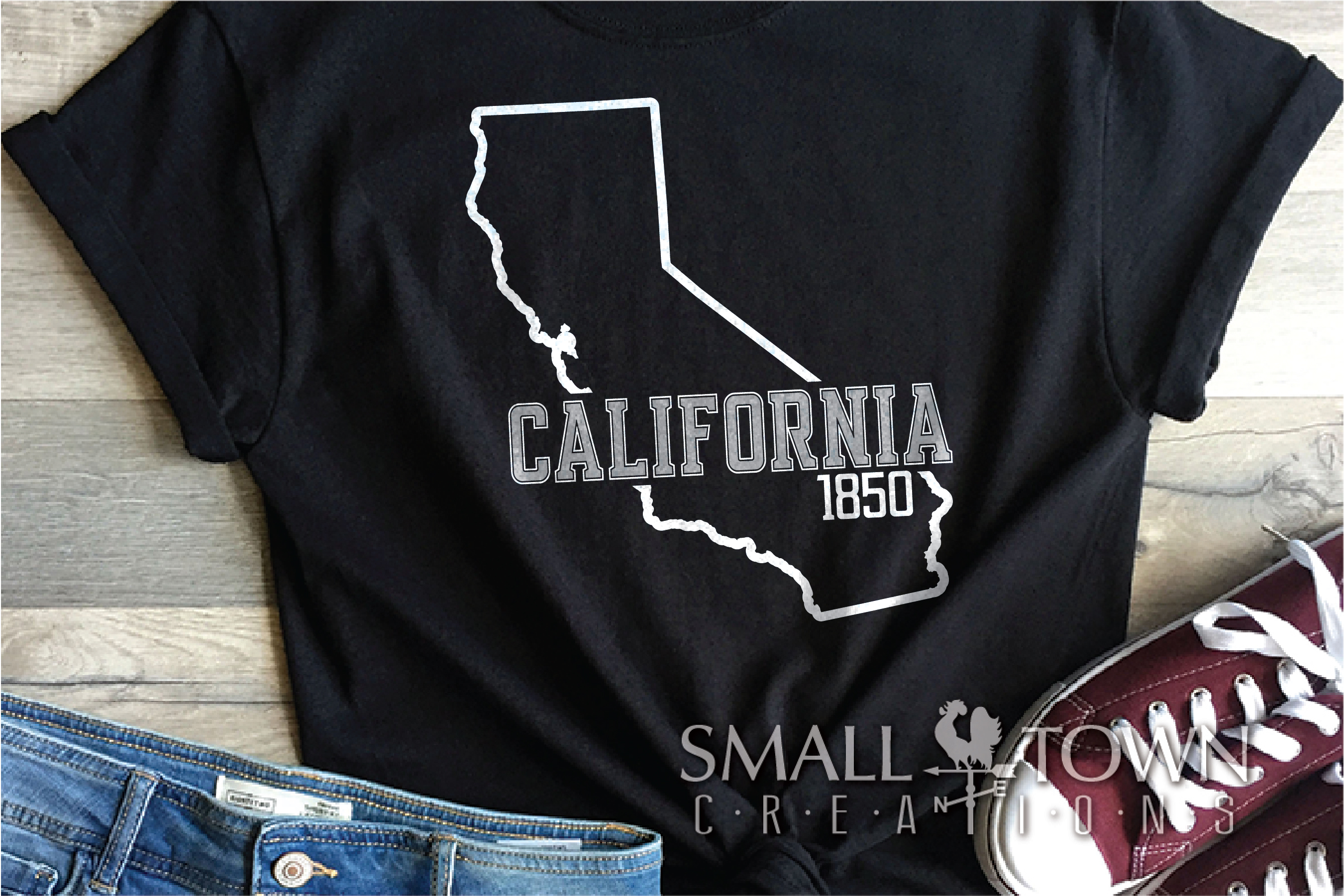 California, The Golden State, Logo, PRINT, CUT & DESIGN example image 6