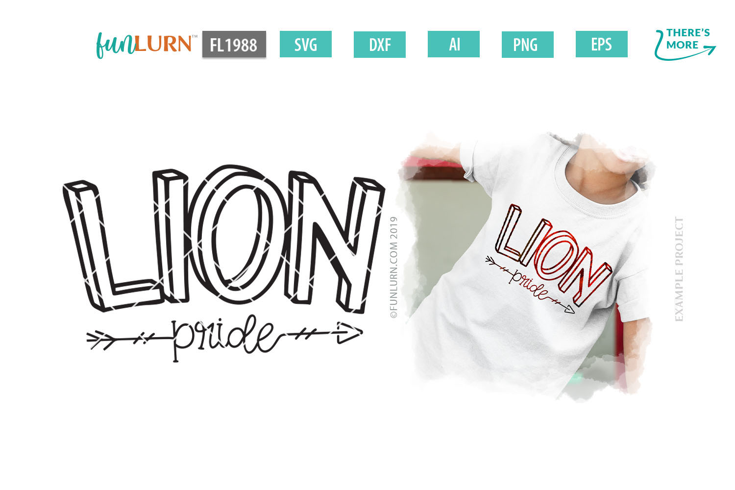 Lion Pride Team SVG Cut File example image 1