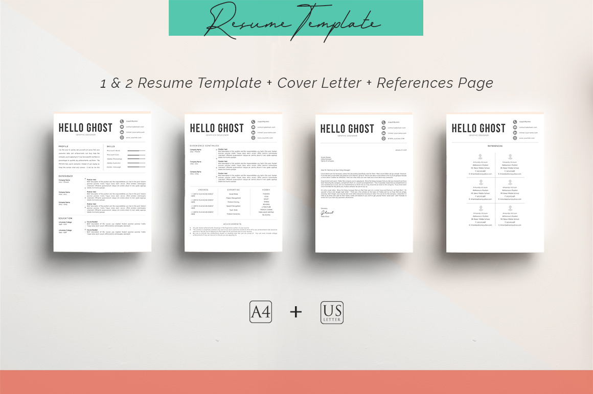 ULTIMATE BUNDLE Resume Template 10 in 1 example image 9