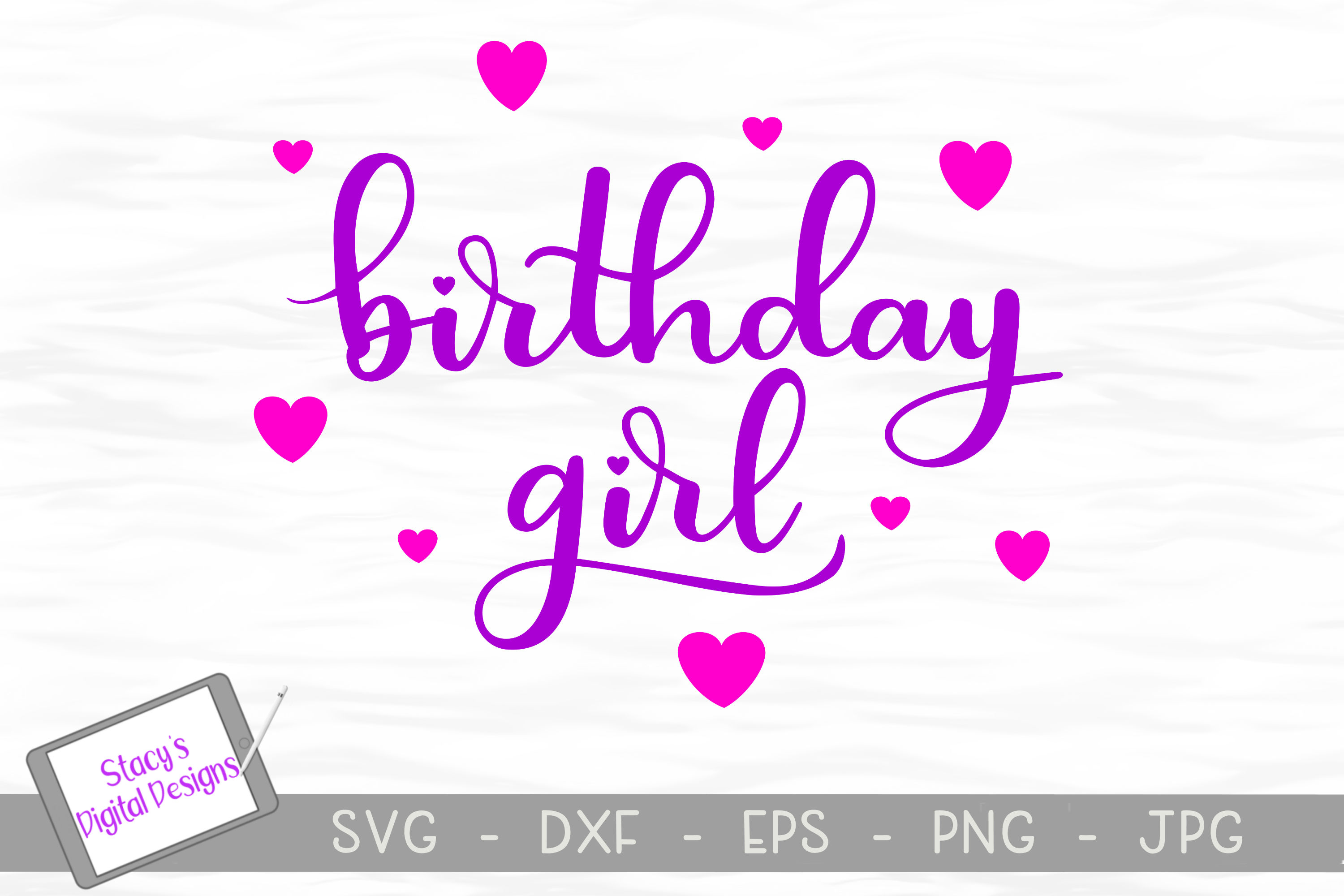 Birthday SVG Bundle - 4 birthday SVG files, Handlettered example image 4
