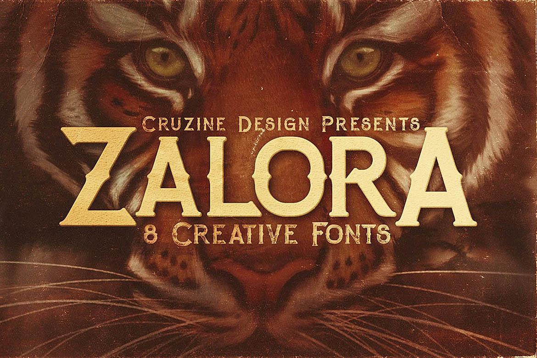 Zalora Typeface example image 1