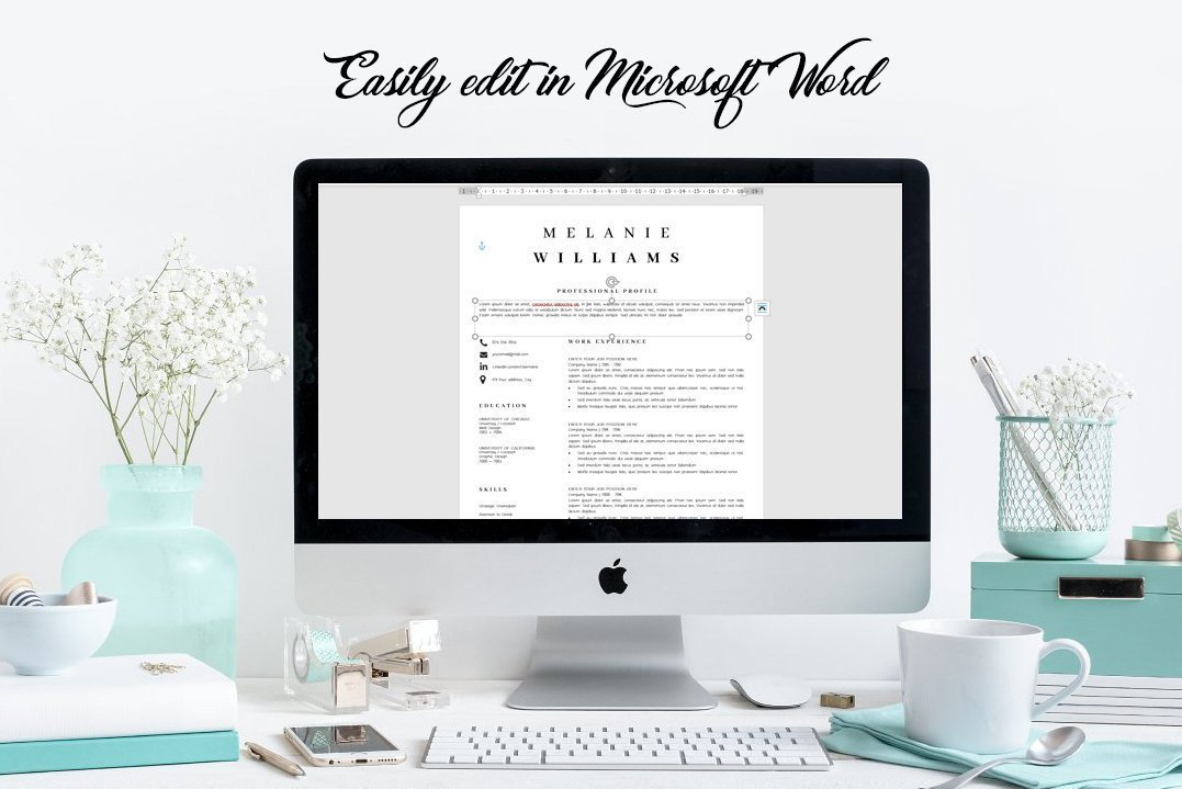 Resume Template Minimalist   CV Template Word - Melanie example image 10
