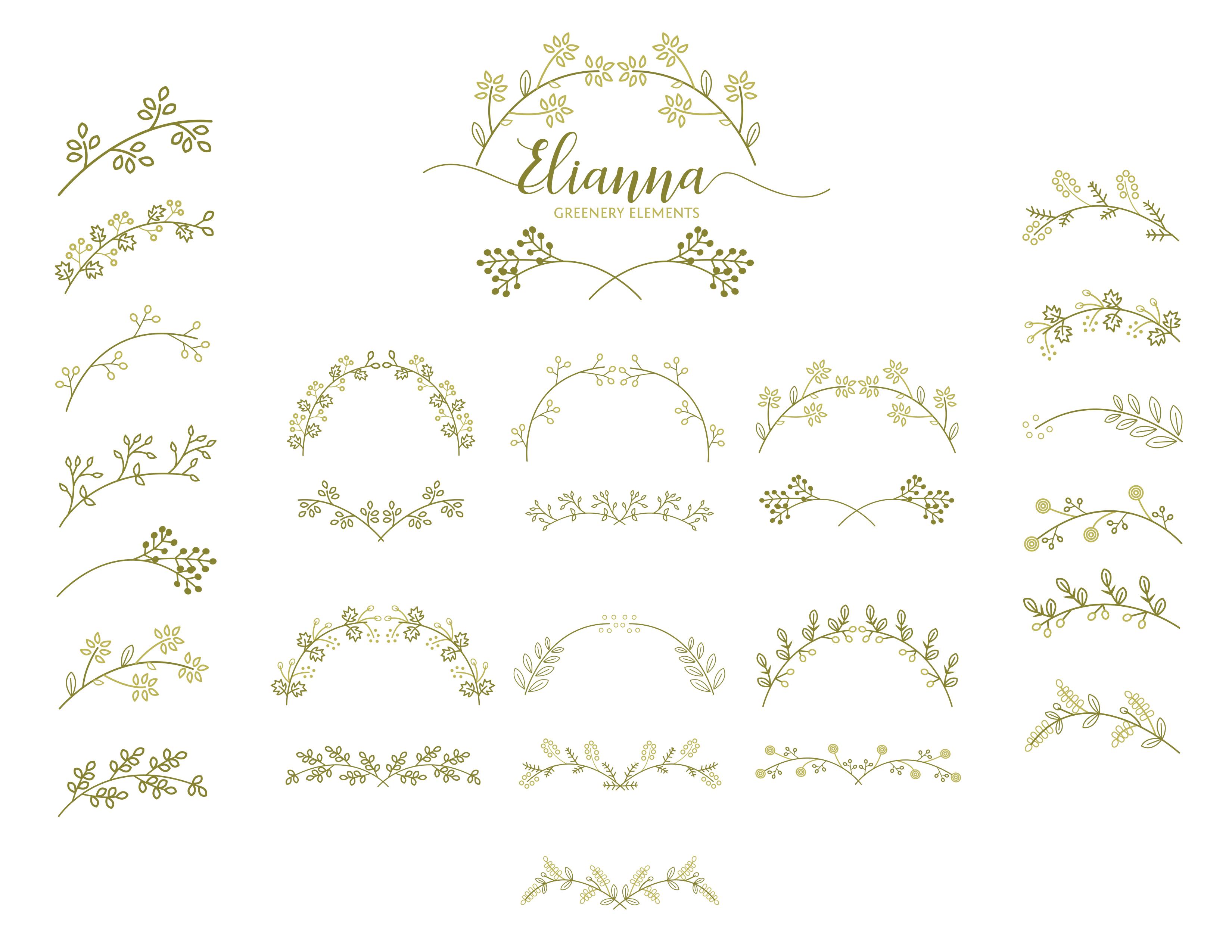 90+ Elianna Greenery Elements example image 2