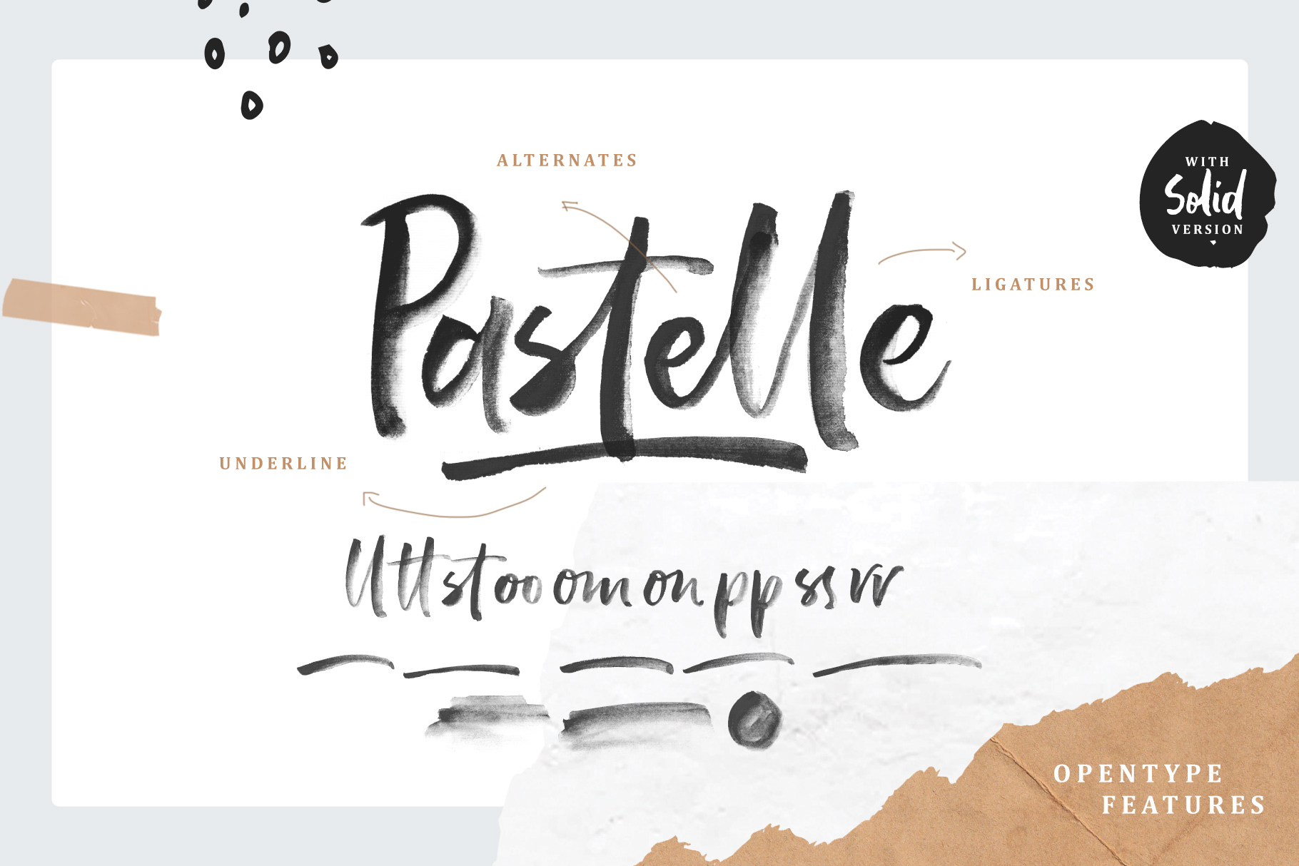 Pastelle SVG font example image 2