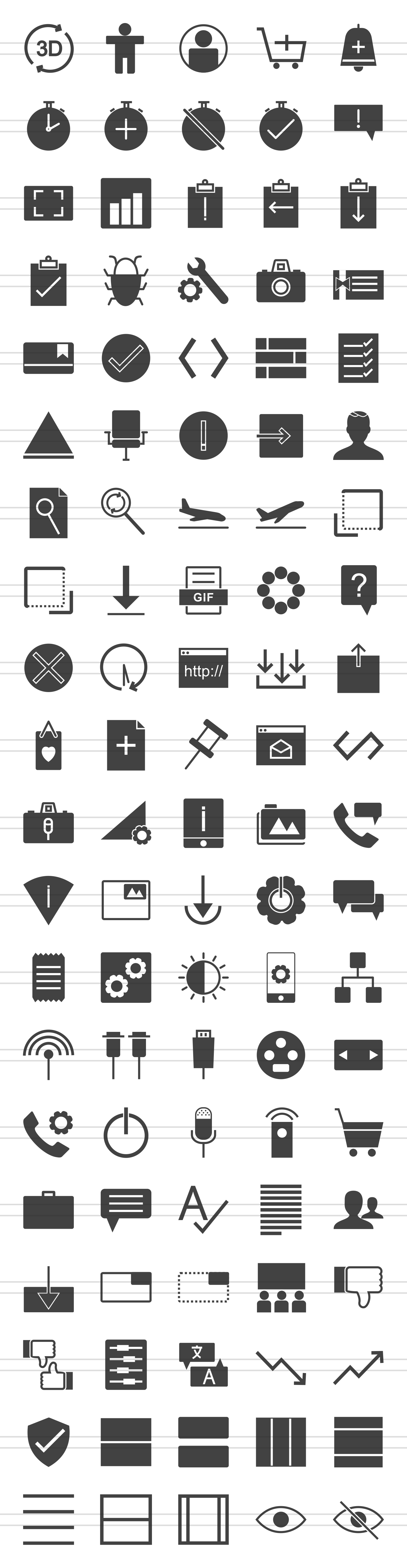 100 Material Design Glyph Icons example image 2