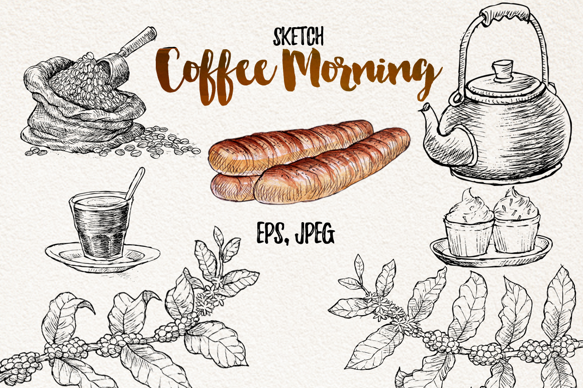 Watercolor Coffee (promo 50%) example image 3