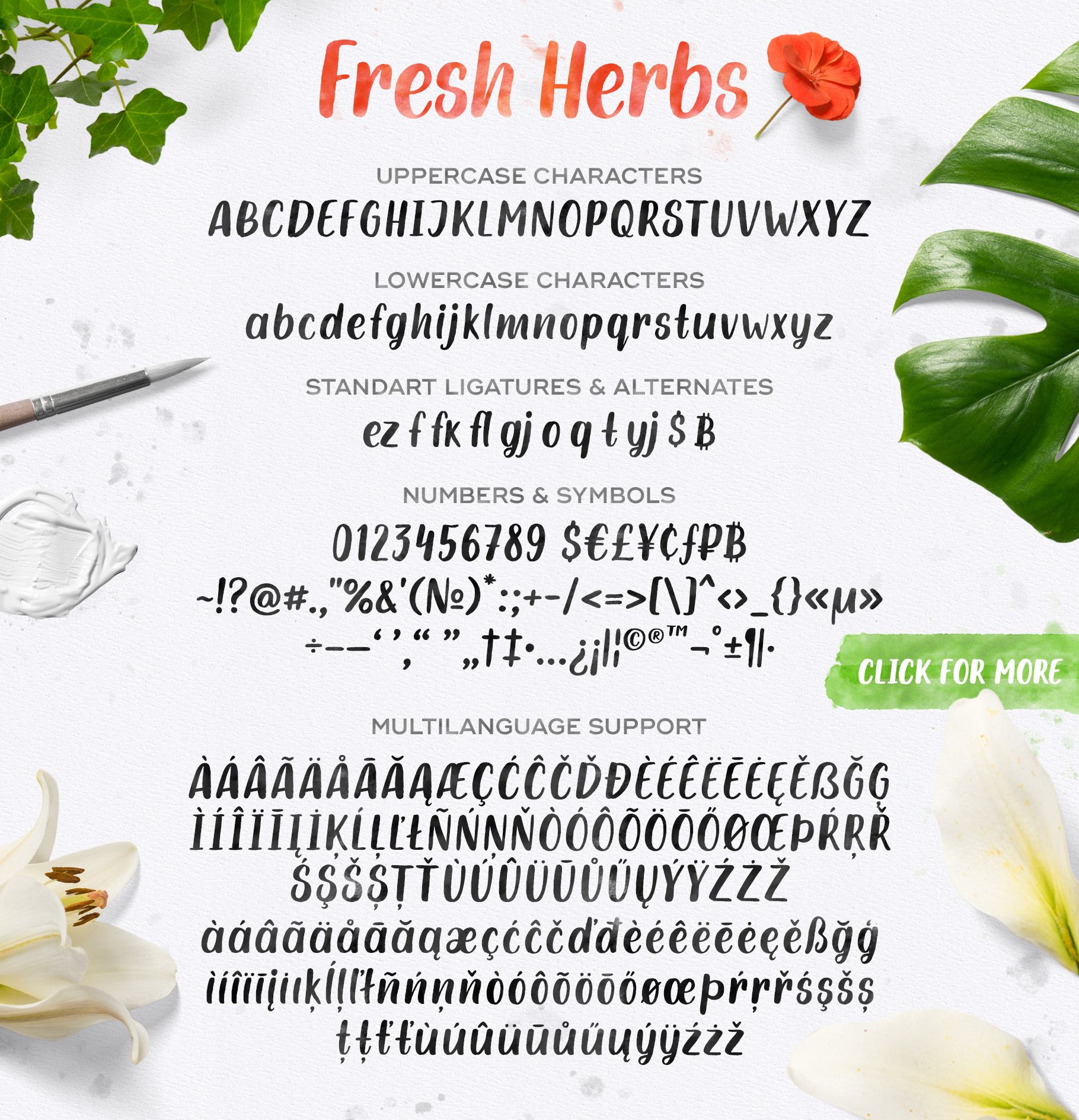 Fresh Herbs font example image 5