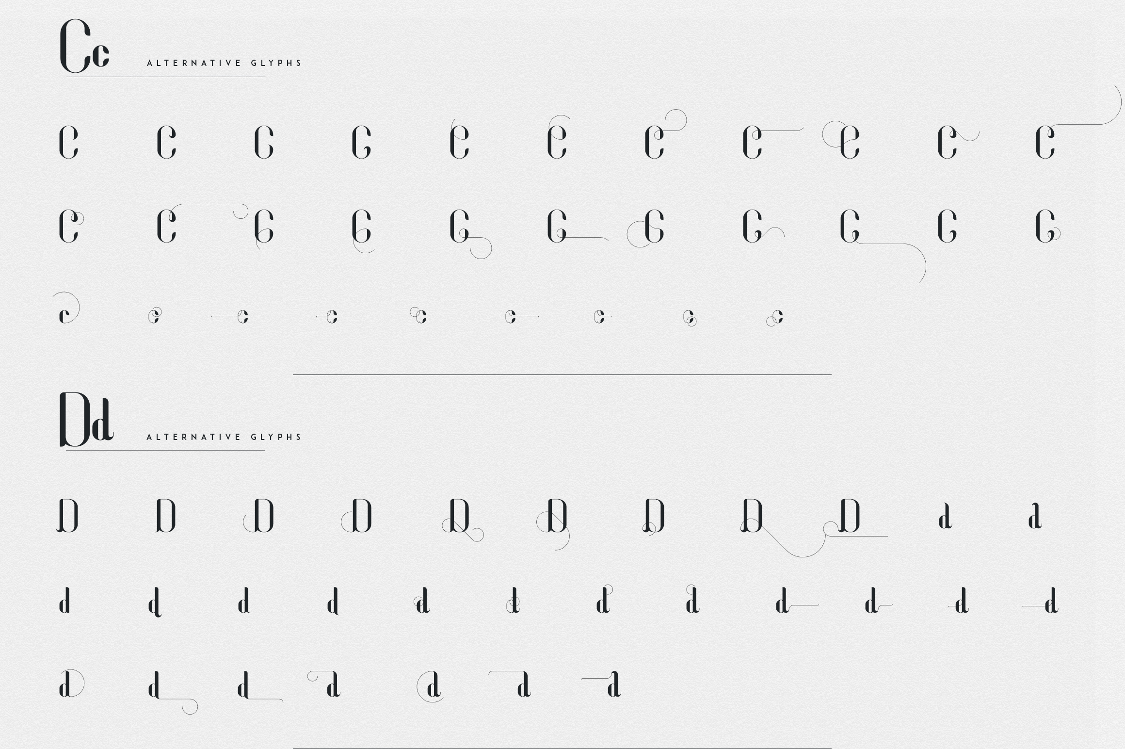 Fonatik Display font Extras example image 12