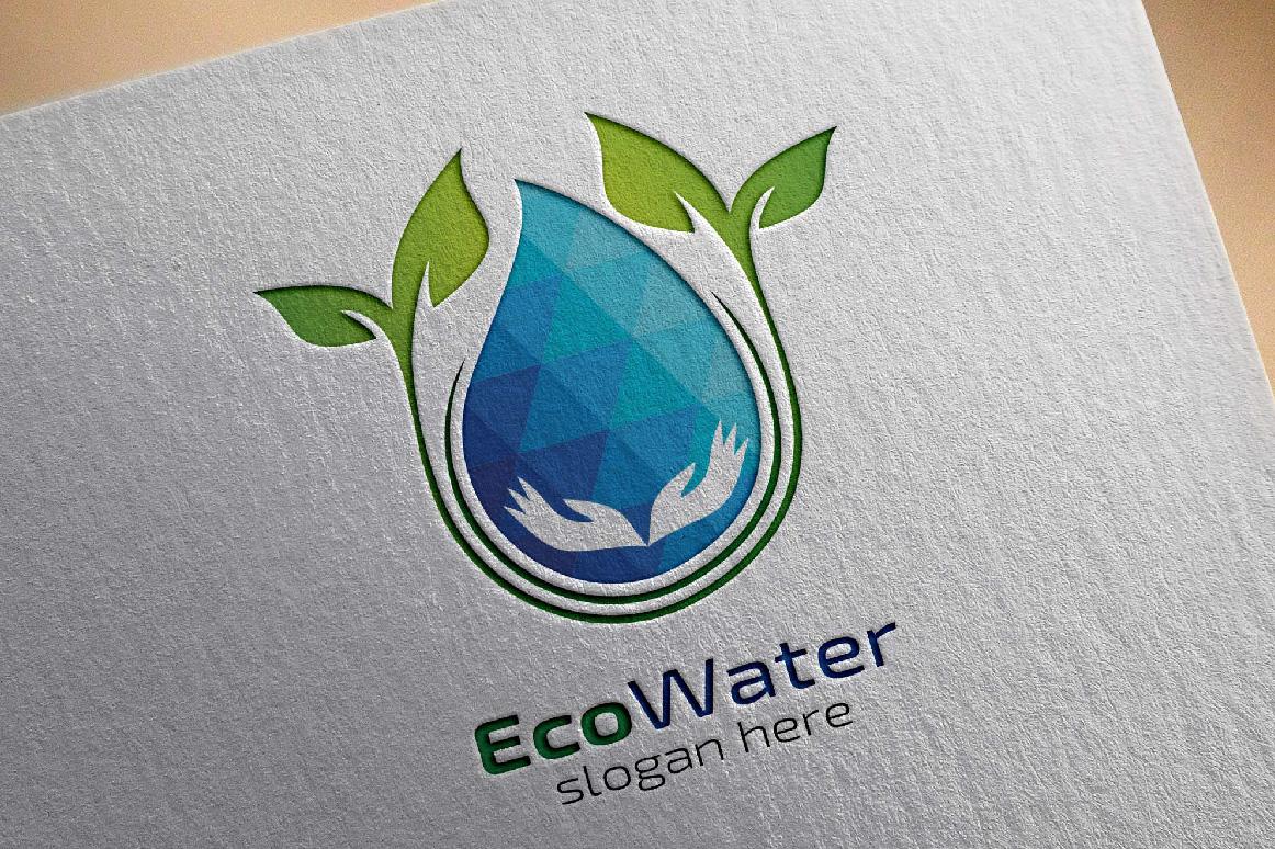 Eco Blue Water Drop Logo example image 5