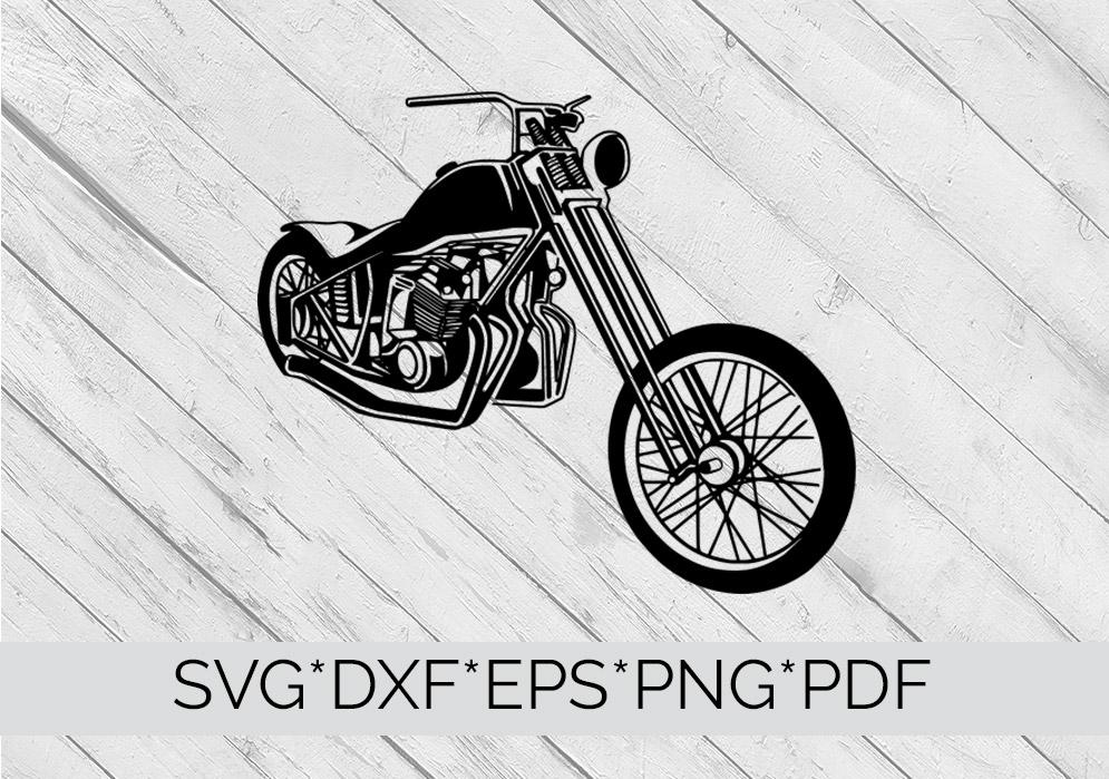 Harley Davidson Motorcycle SVG Cutting File  example image 2