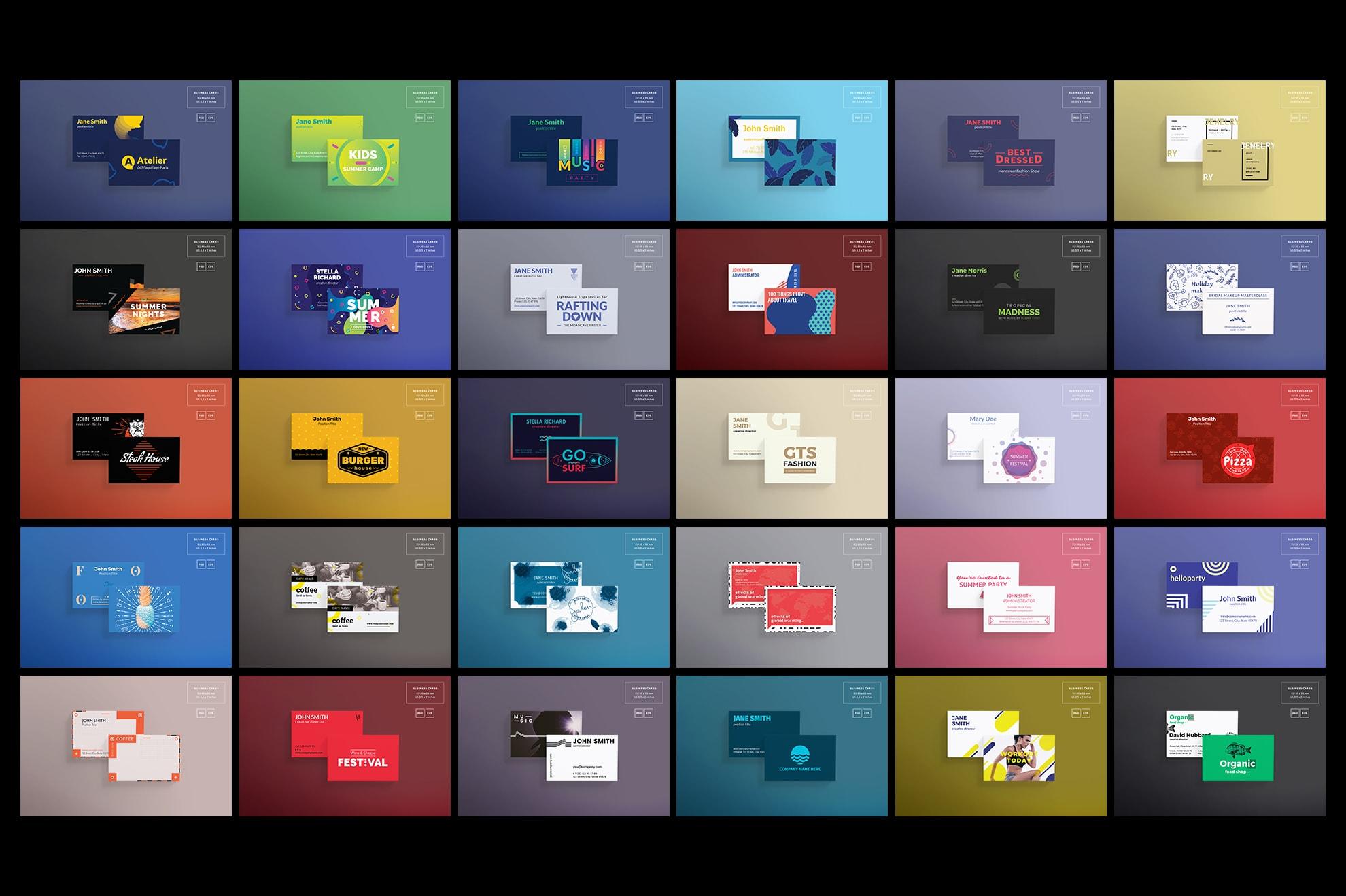 Business Card Design Templates Bundle SALE example image 6