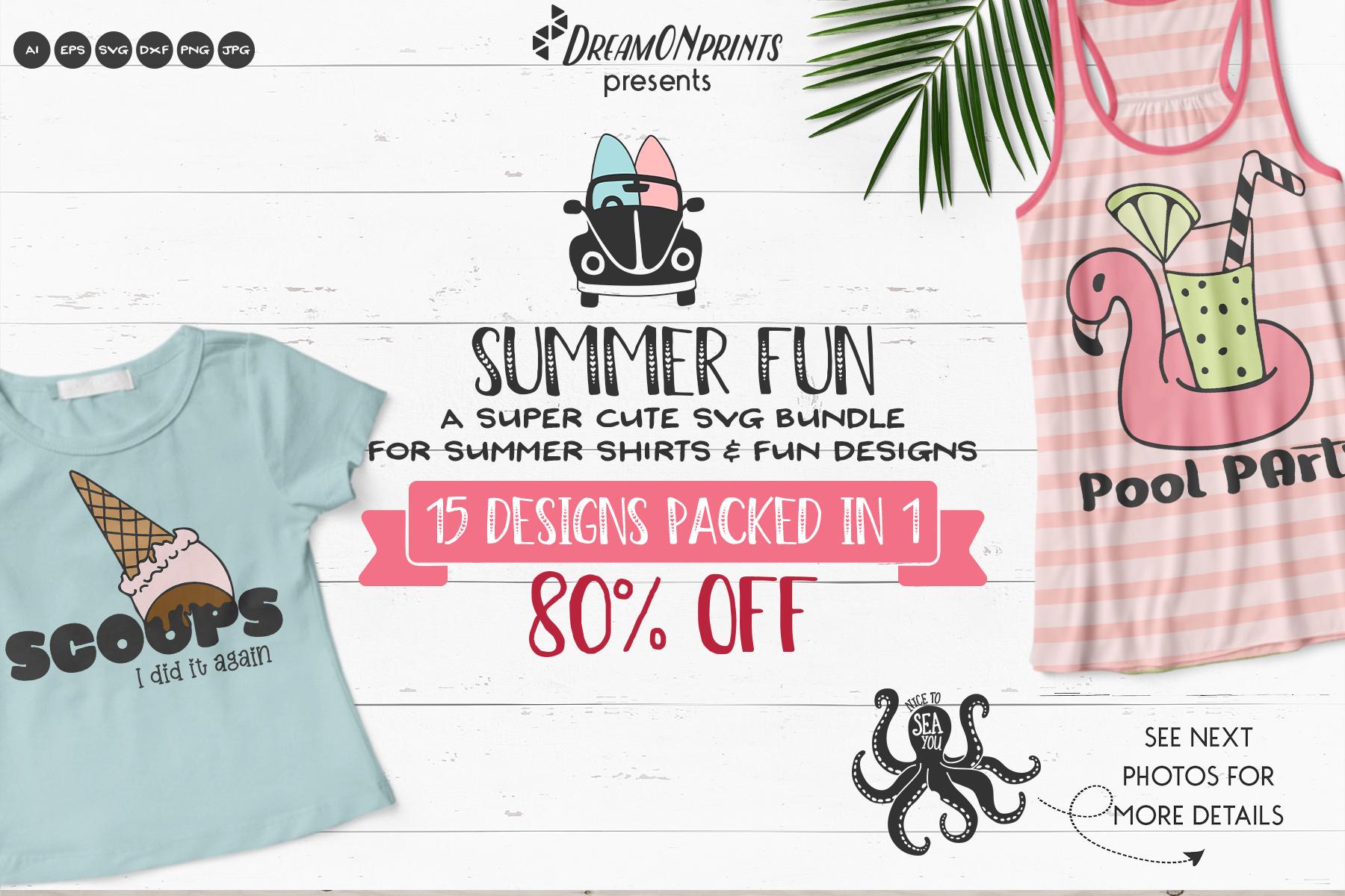 Summer Fun | Funny Beach SVG Bundle example image 1