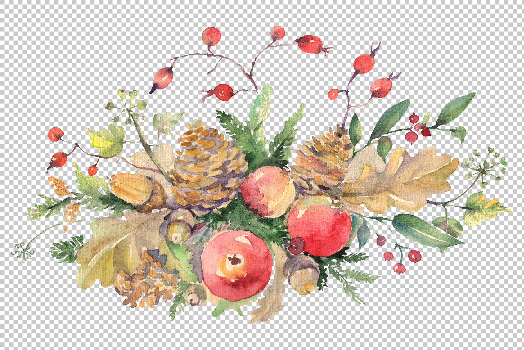 Autumn bouquet Watercolor png example image 2