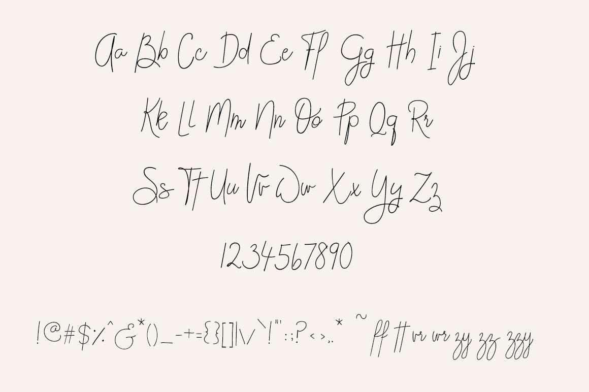 FONT DUO Handwritten Cursive handwriting Script - Posch example image 6