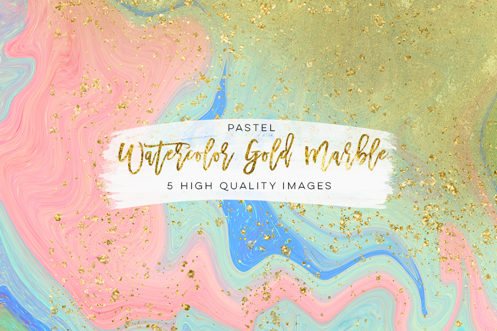Marble back ground digital paper, watercolor gold marble, marble wall art paper, marble baby blue, marble colorful texture, Rose Gold Pink example image 2