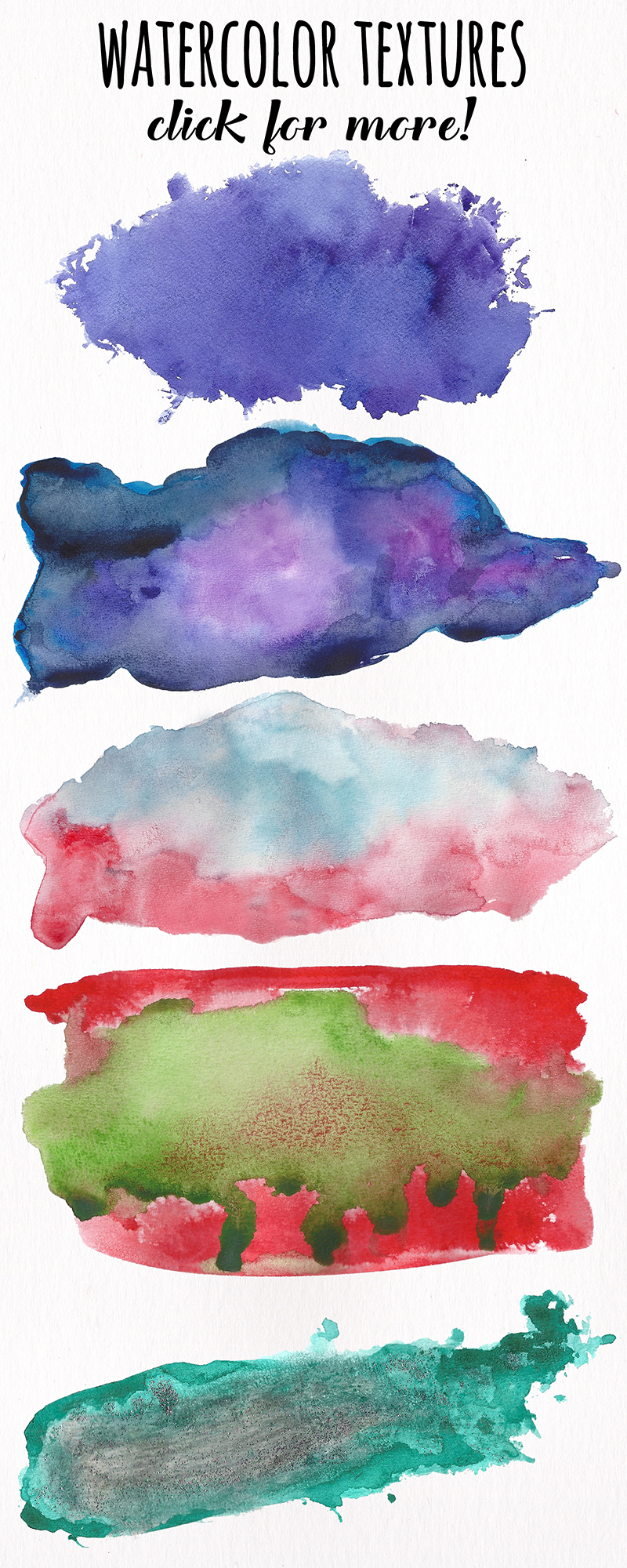 Watercolor Textures - card edition example image 11