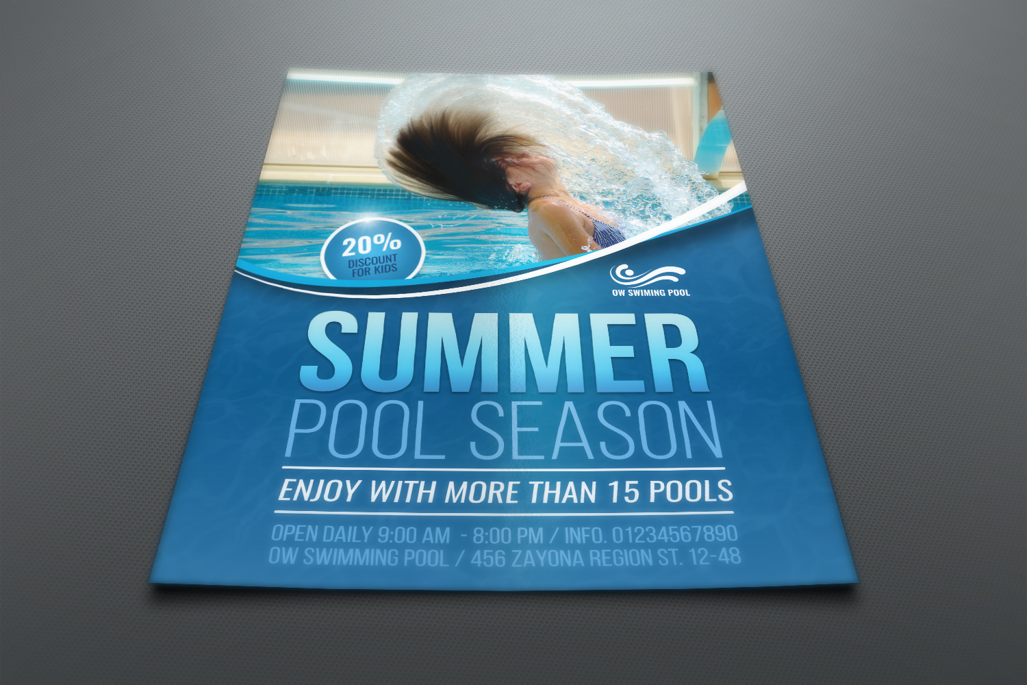 Swimming Pool Flyer Template example image 2