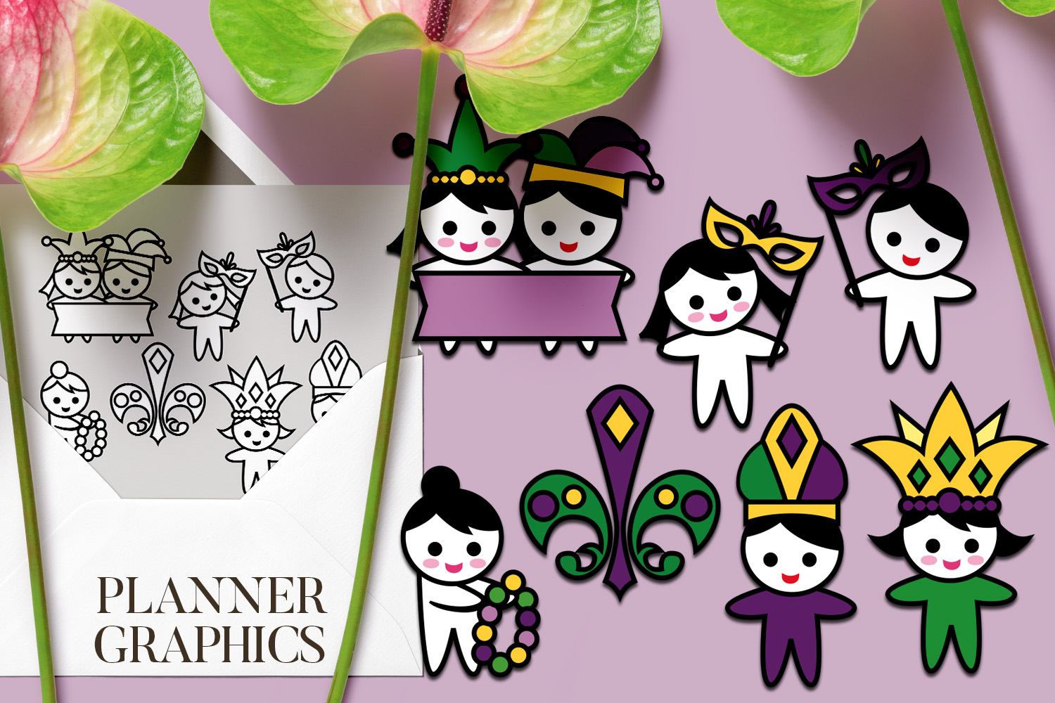 Holidays Bundle - Planner Graphic Illustrations example image 18