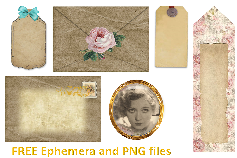 Journalling Papers with FREE Ephemera CU JPEG & PNG example image 5