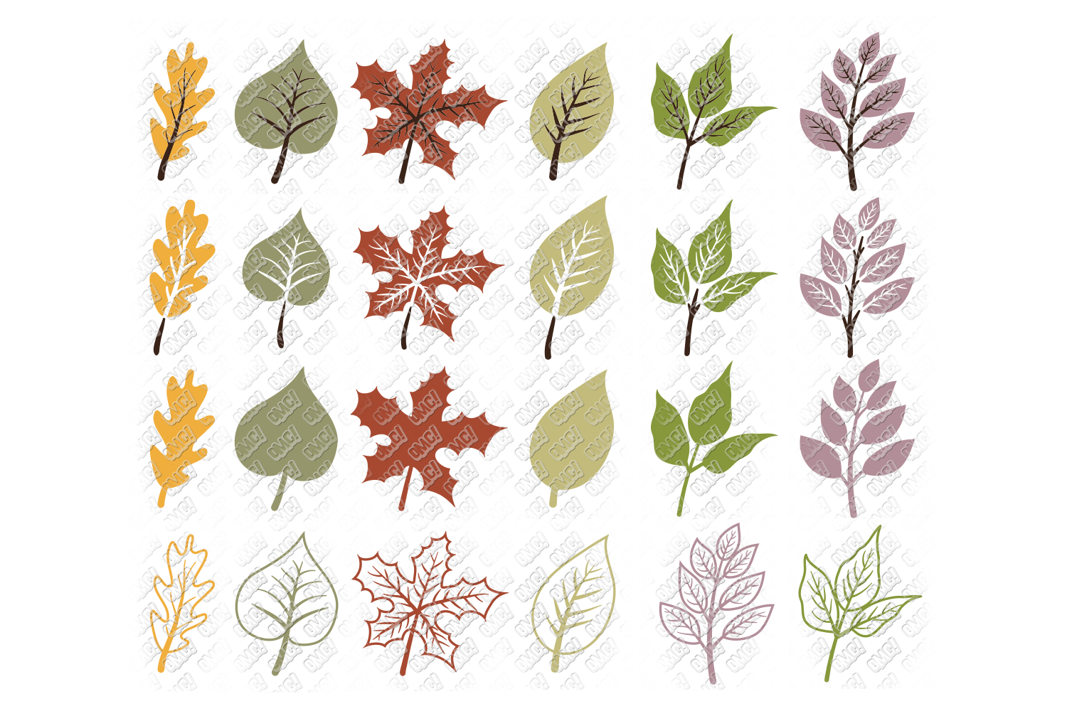 Leaf SVG Fall Leaves Autumn in SVG, DXF, PNG, EPS, JPEG example image 2
