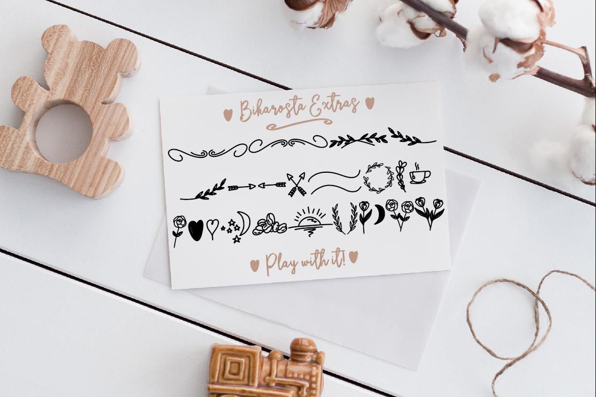Bikarosta Font Duo with Extras example image 13