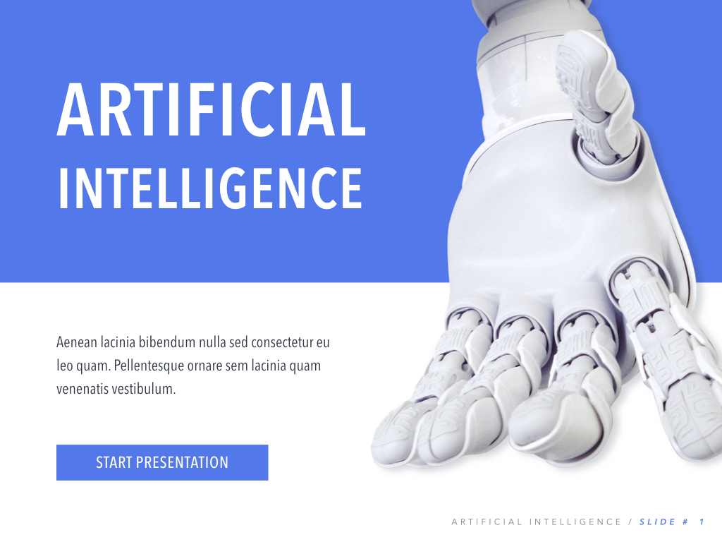 Robot Showcase PowerPoint Template example image 2