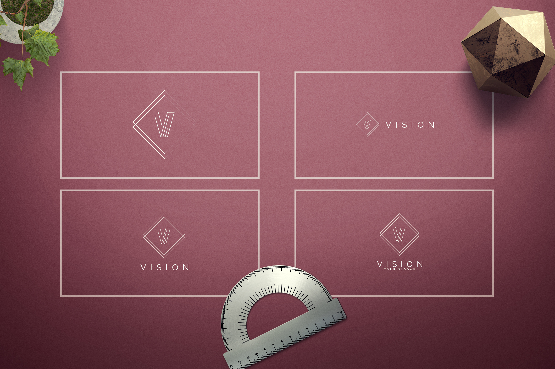 Geometric Letters and Logo Designs example image 23