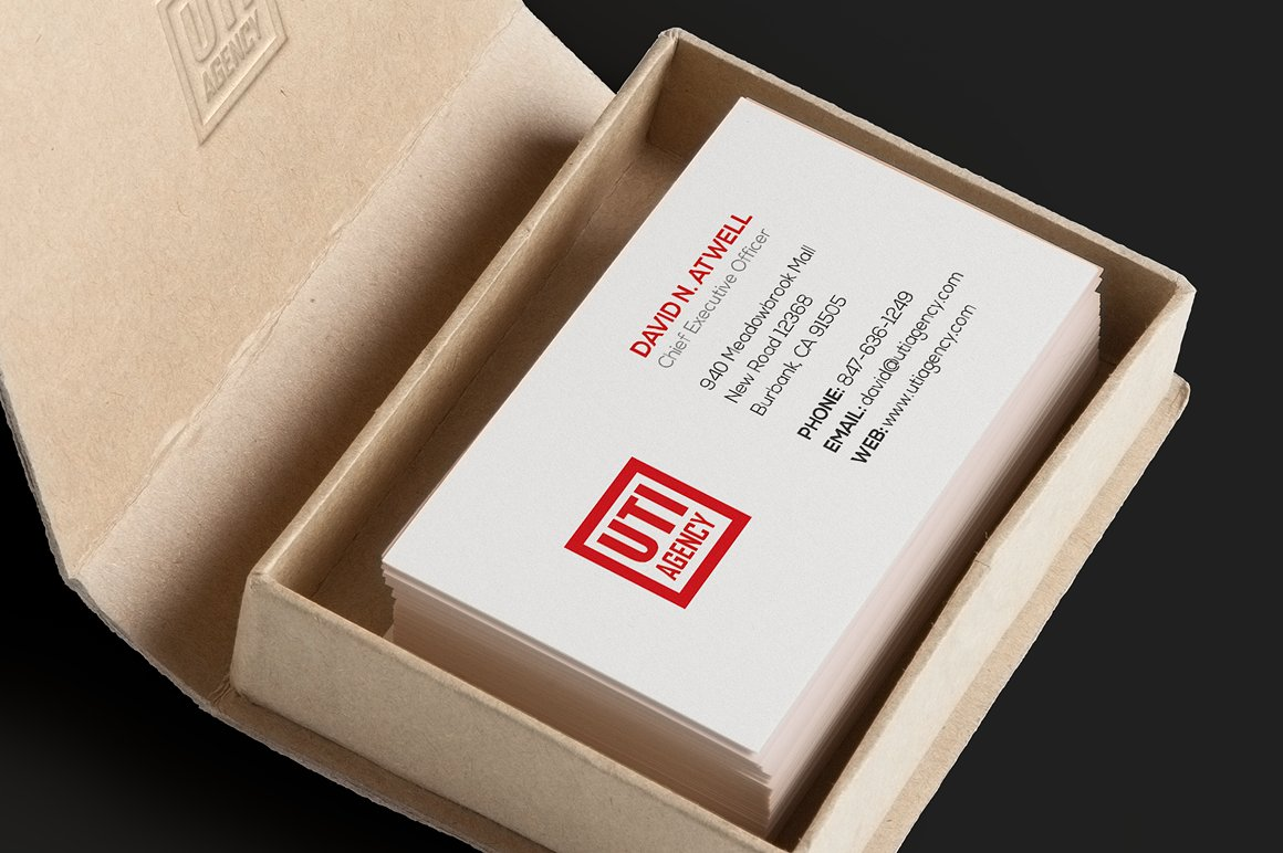 Red Corporate Business Card example image 2