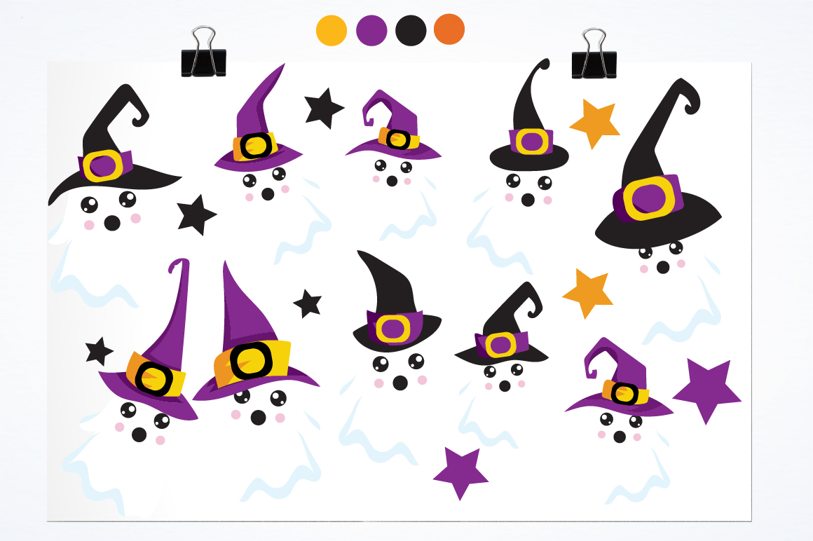 Halloween Ghosts graphics and illustrations example image 2