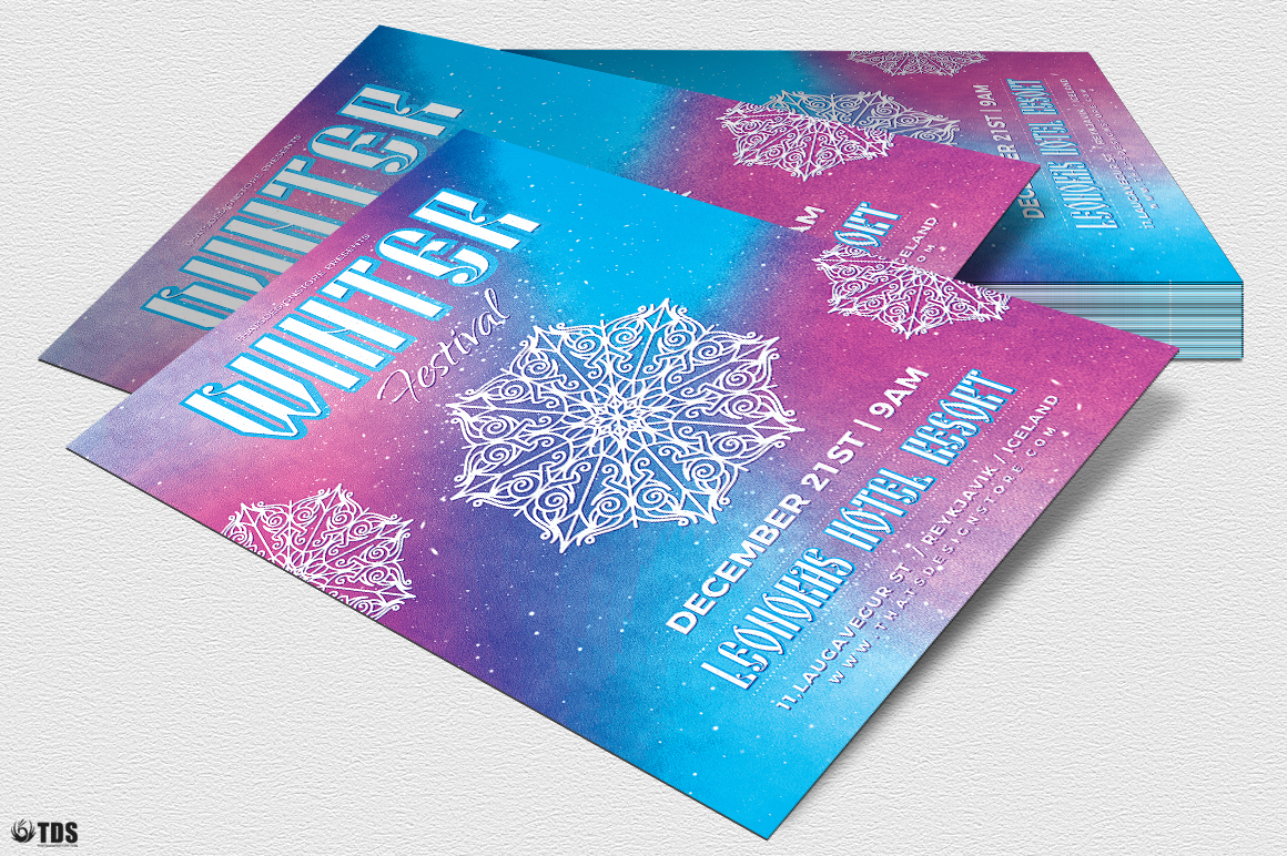 Winter Festival Flyer Template V1 example image 4