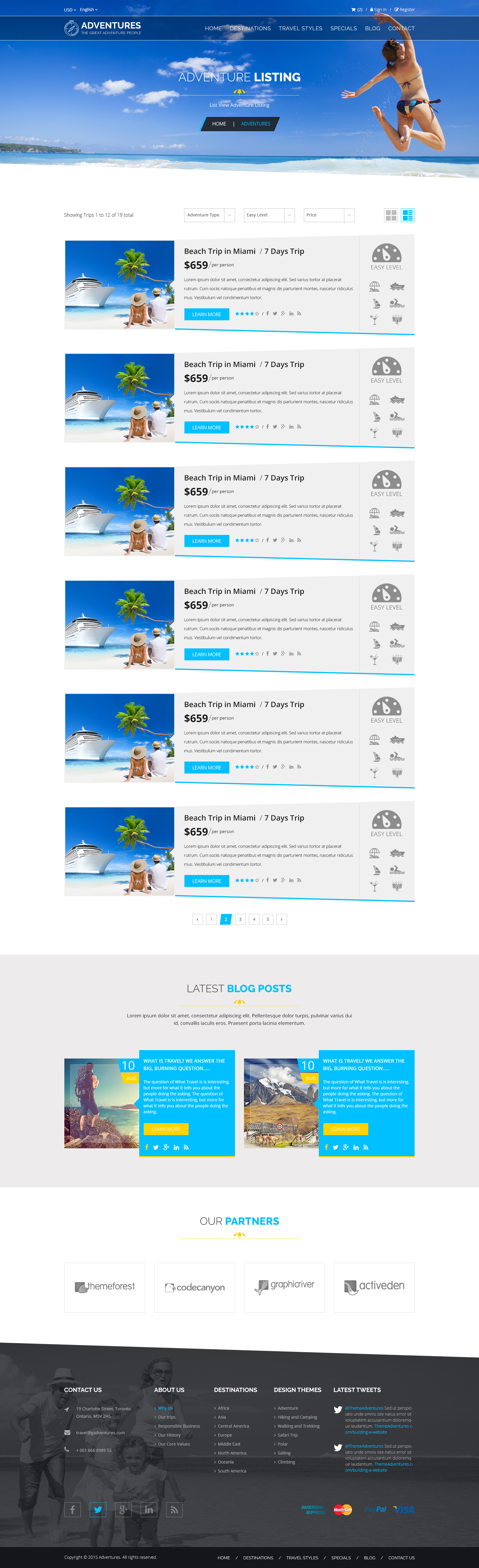Adventures and Tour PSD Template example image 8