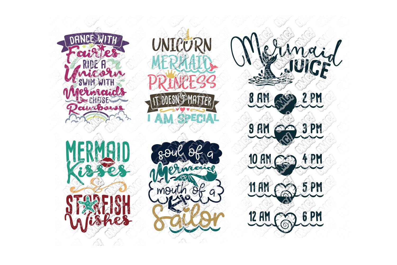 Mermaid SVG Bundle Quotes Sayings Monogram in SVGDXFPNGJP
