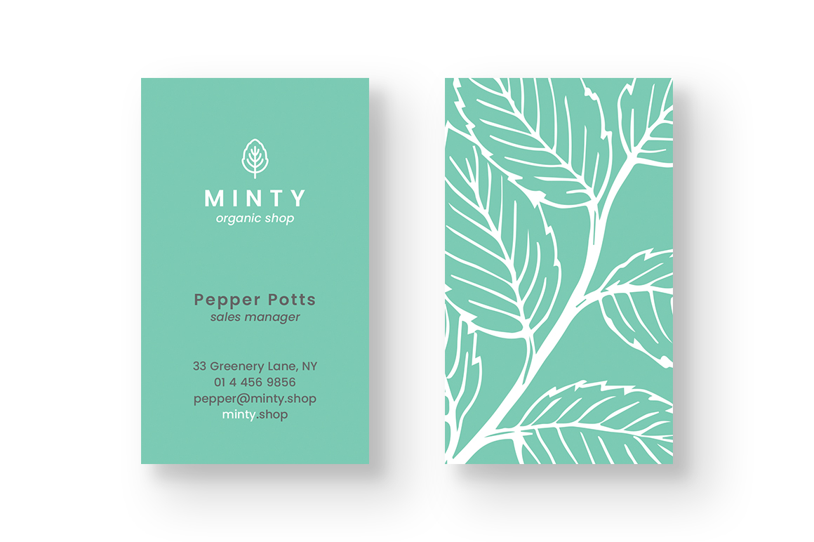 Organic Shop Business Card example image 3