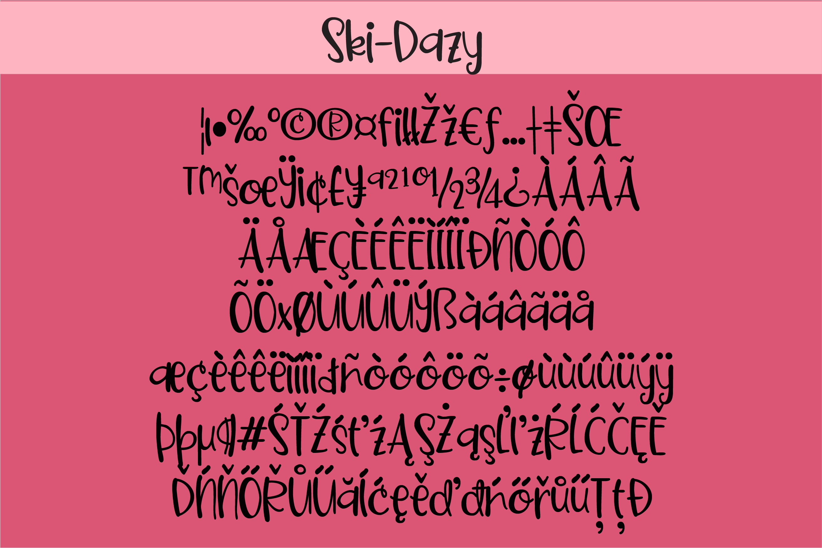 PN Ski-Doozy and Ski-Dazy Font Duo example image 4