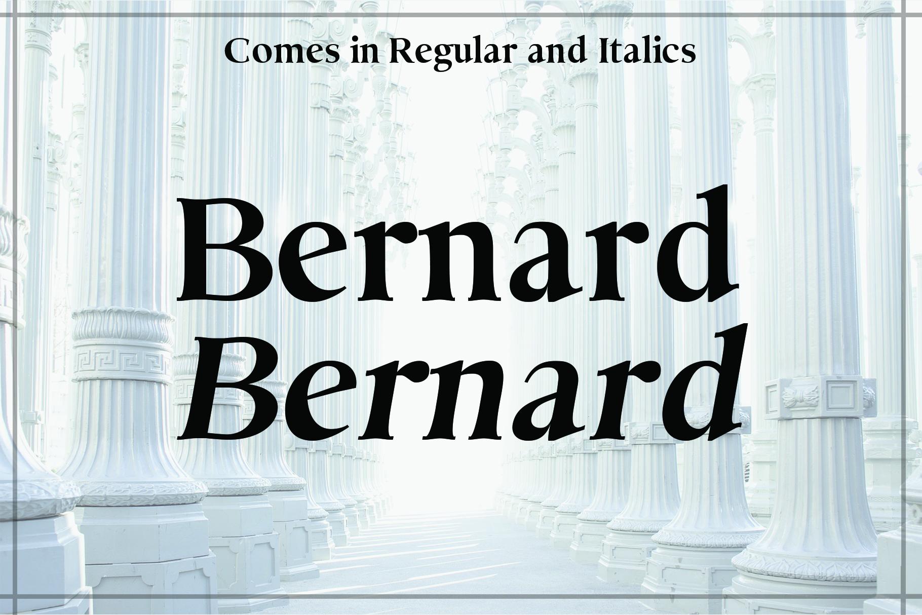 BERNARD, A Classic Typeface example image 2