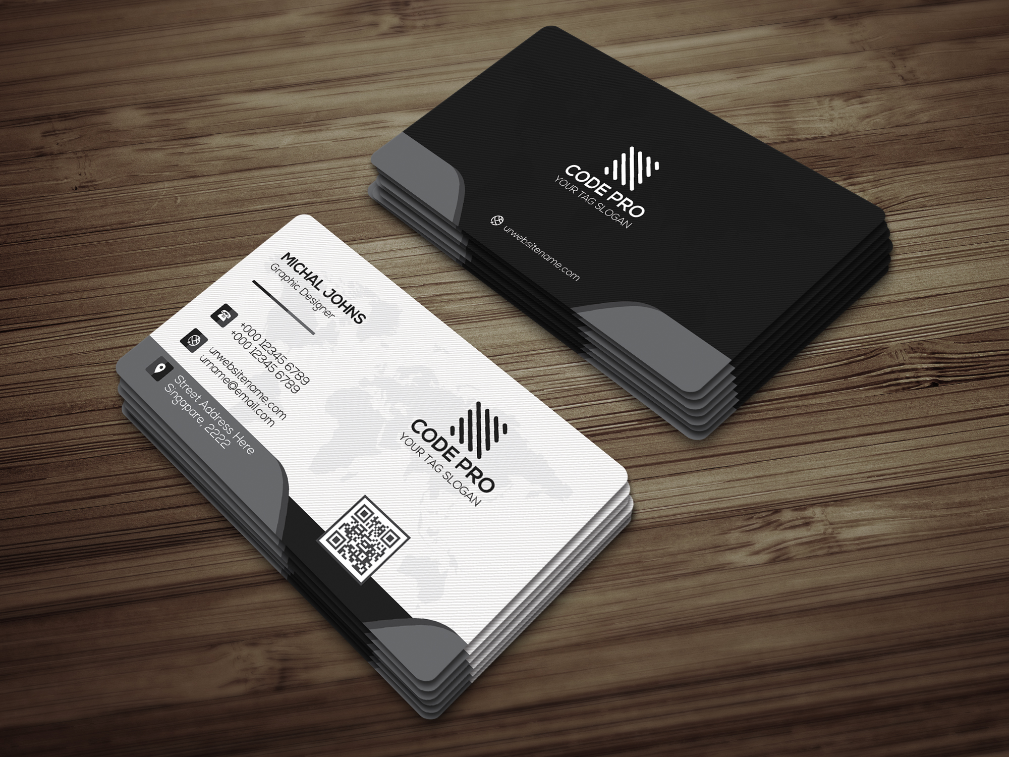 Modern Business Card example image 2