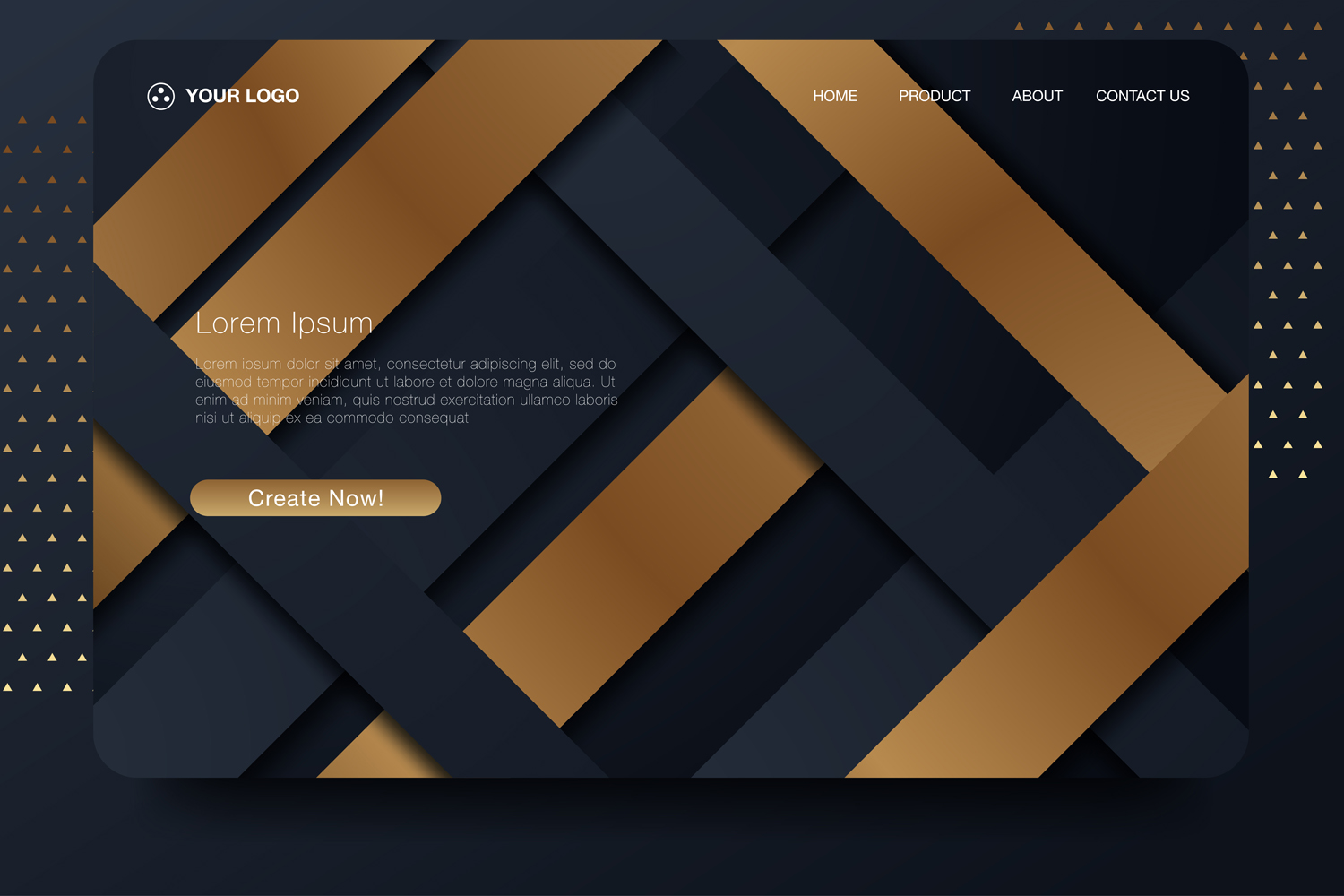 20 - Abstract background design. Landing page template example image 5