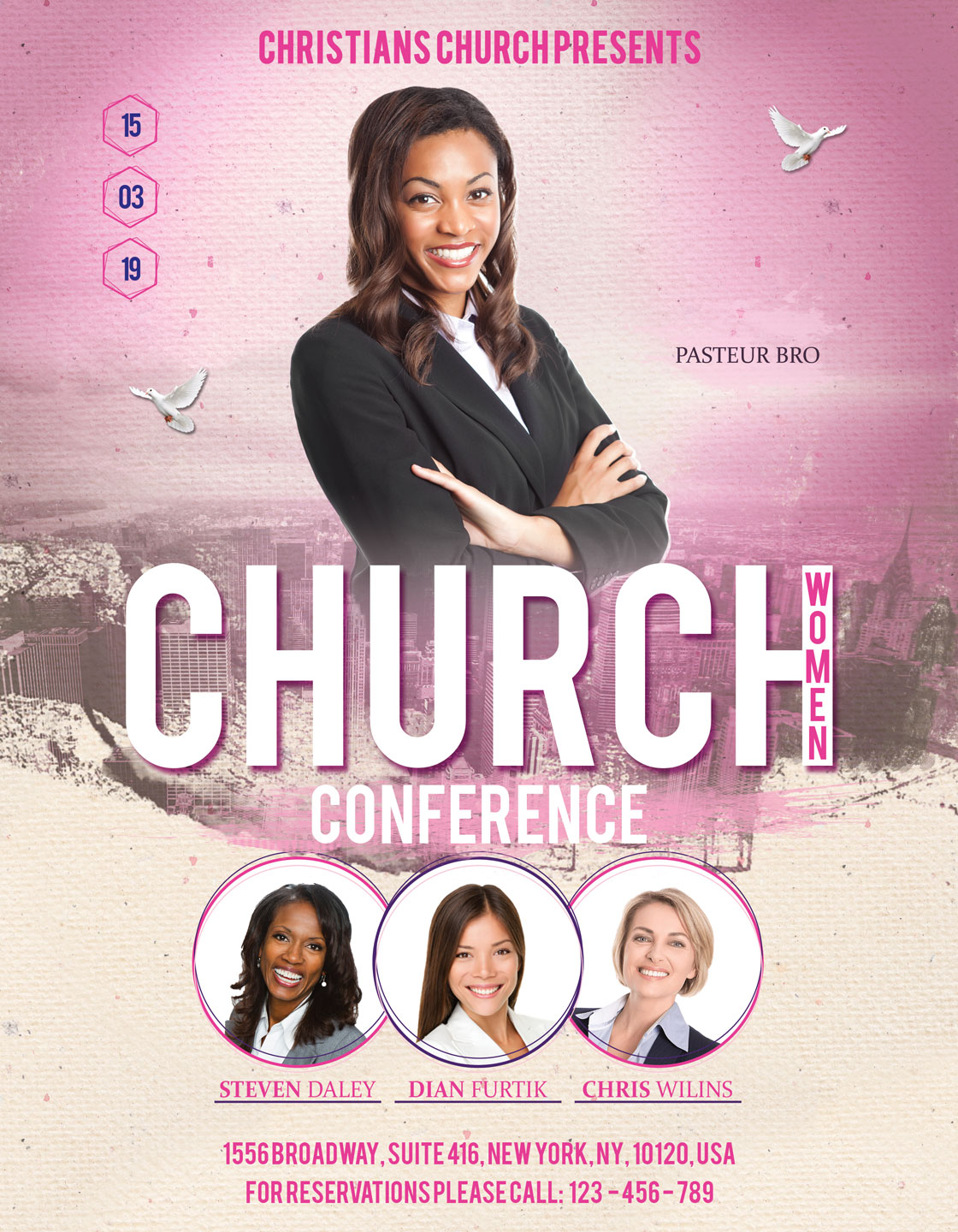 Church Women Conference Flyer Poster example image 3