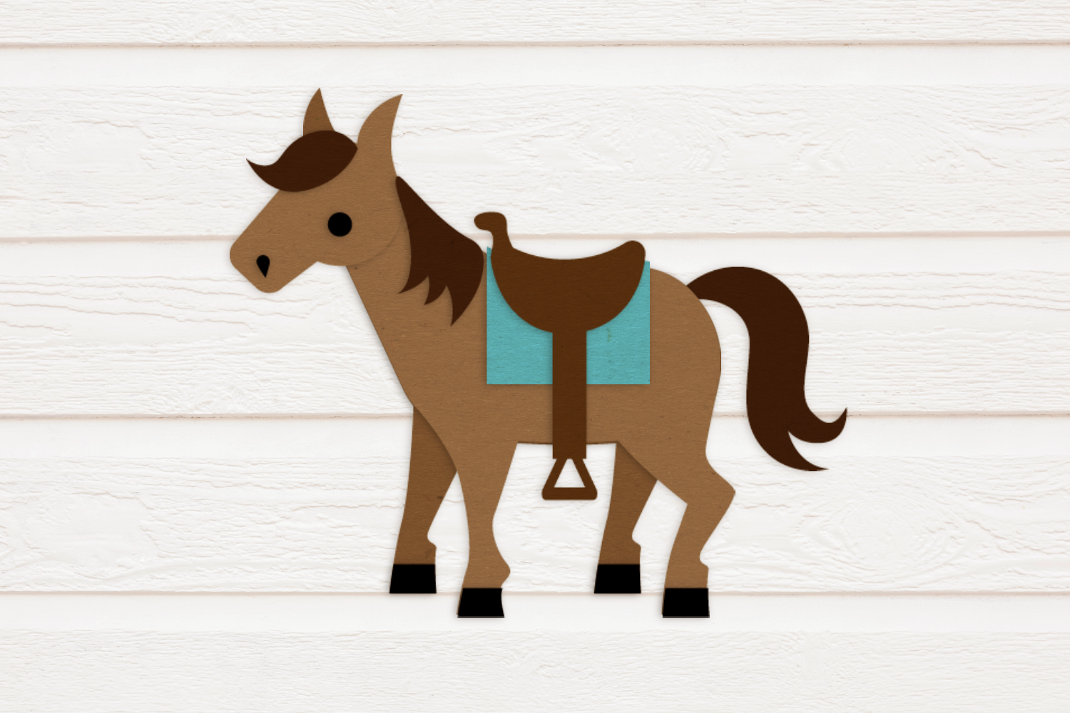 Horse with Saddle SVG Design example image 1