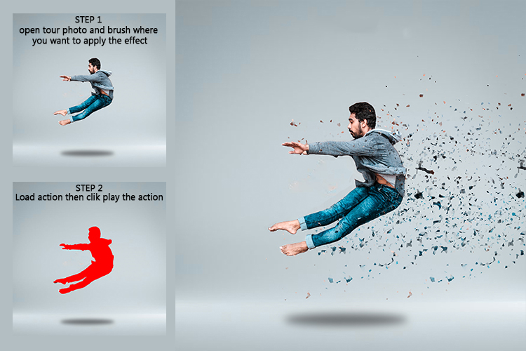 Broken Dispersion Photoshop Action example image 3