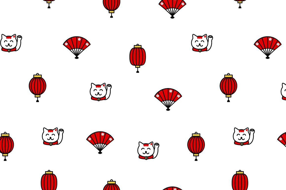 Japanese motif patterns example image 8