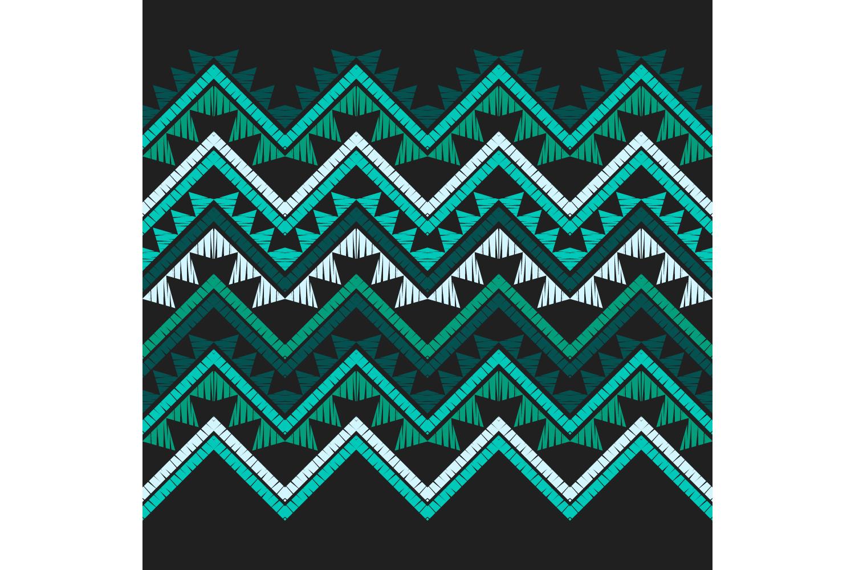 Ethnic boho ornament. Zigzag. Set of 10 seamless patterns. example image 7