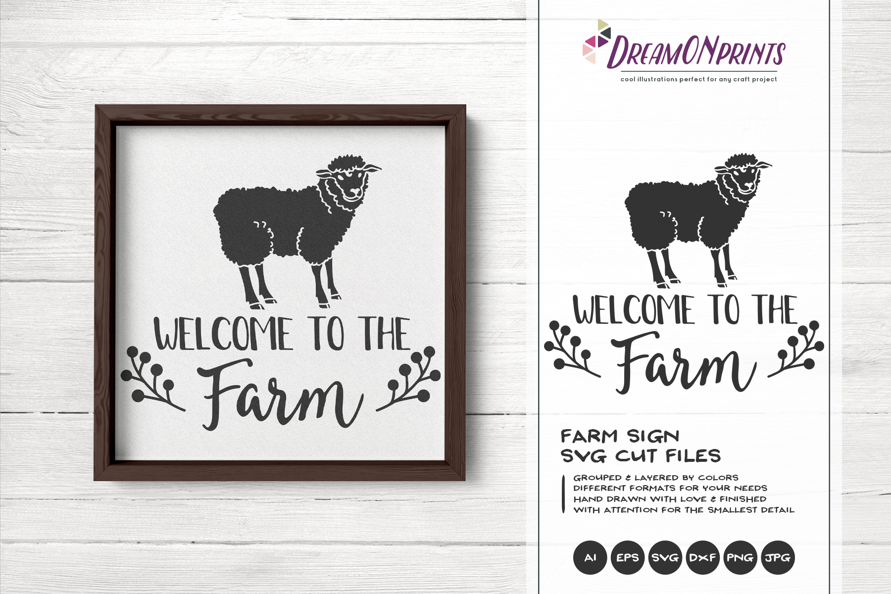 Welcome to the Farm SVG - Sheep SVG Cut Files example image 1