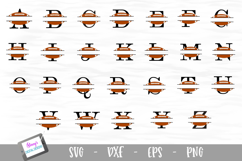 Sports Monogram Bundle - 6 Sets of Sports Split Letters A-Z example image 2