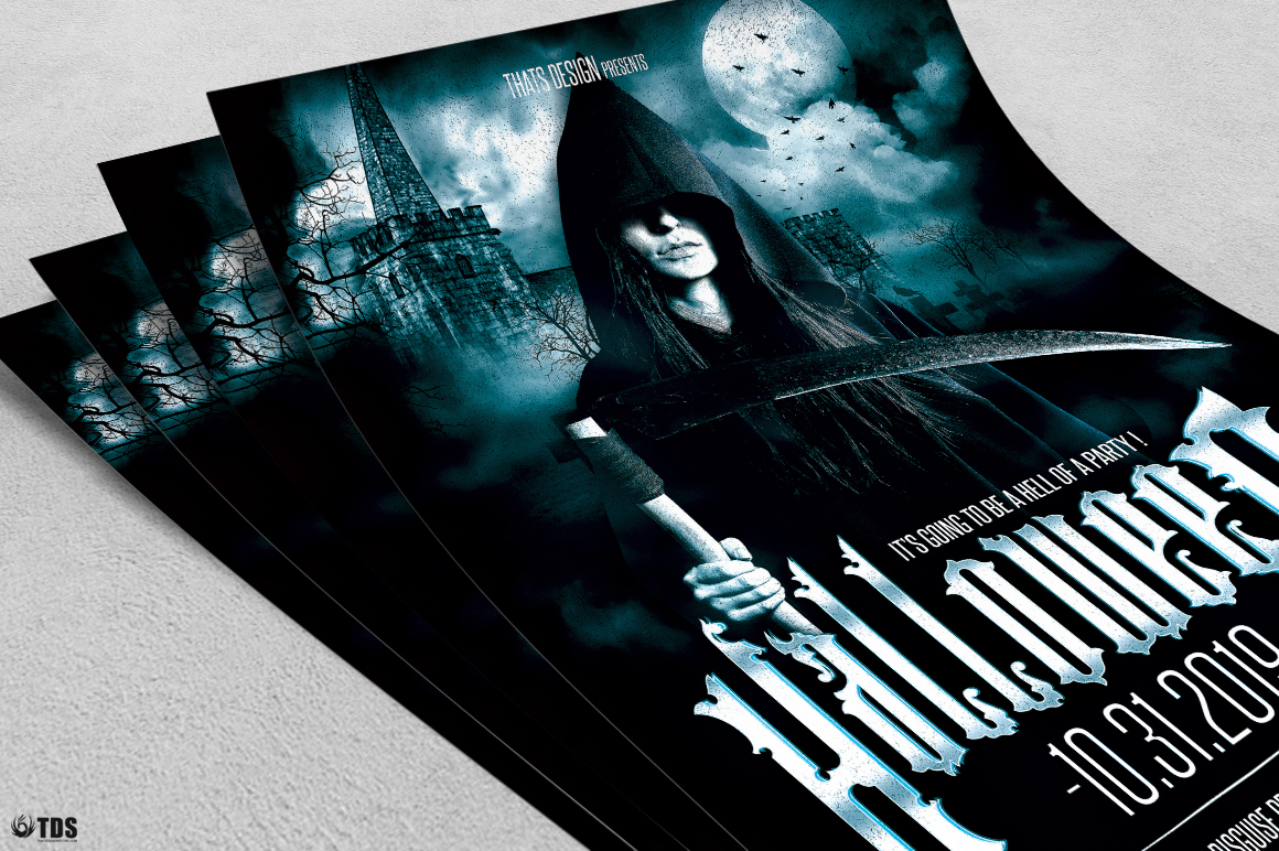 Halloween Flyer Template V8 example image 5