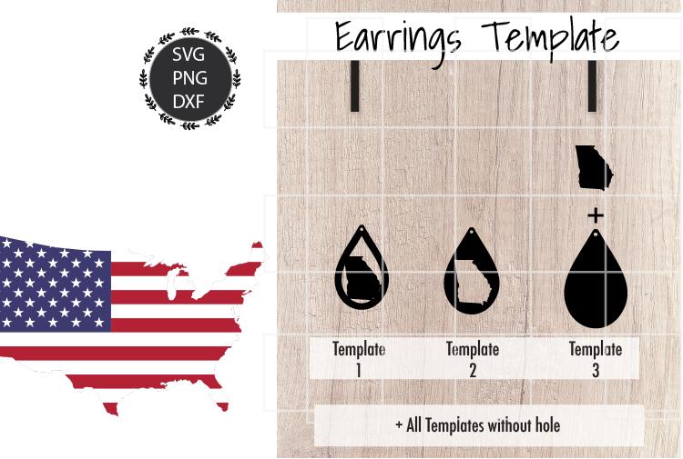 Earrings Template - Georgia Teardrop Earrings Svg example image 2