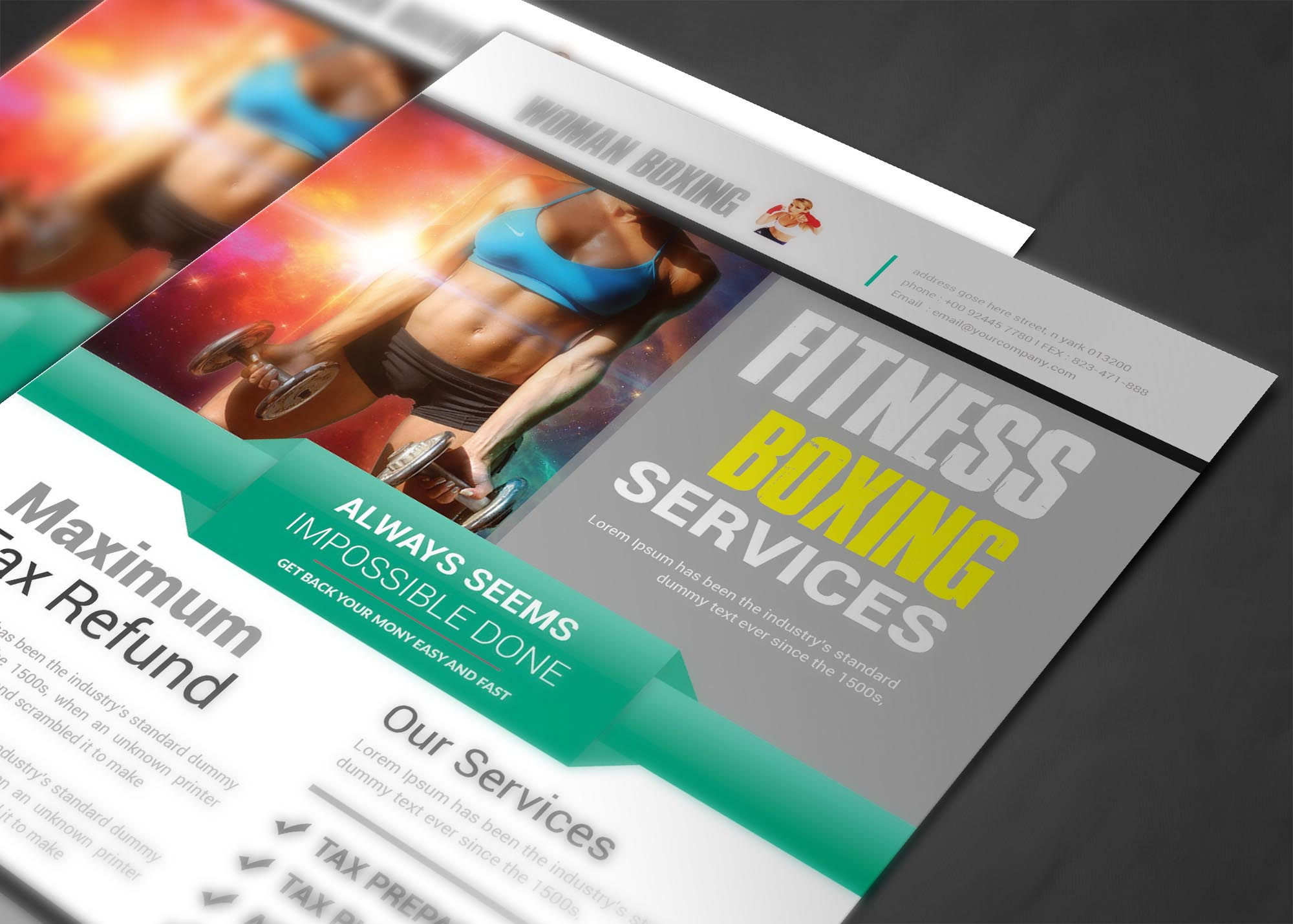 Woman Boxing Flyer example image 5
