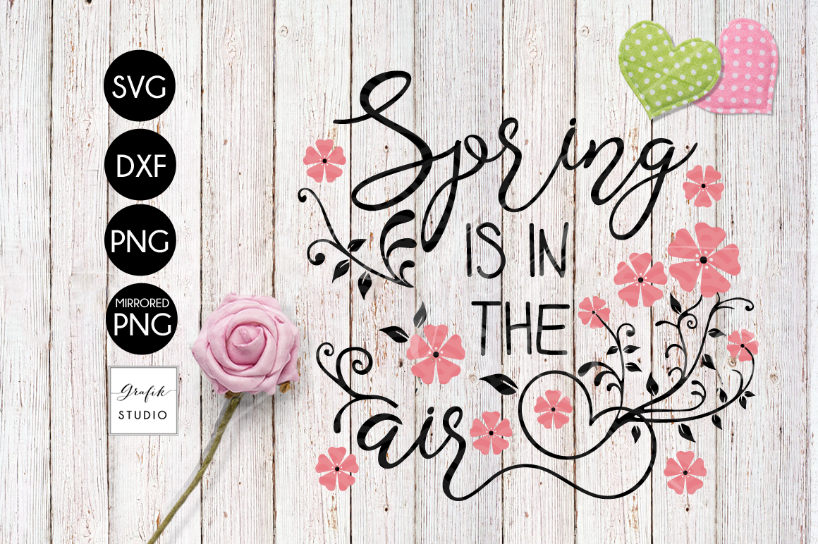 Spring is in the air Easter SVG, Spring SVG example image 2